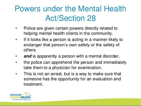 section 2 mental health act police powers innovative partnerships in mental health care