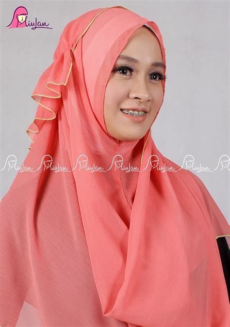 Pashmina Instant Kanya By Hdnet by Scarf Orangpeach Miulan Boutique