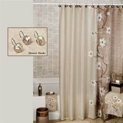 Shower Curtain Bathroom Set Magnolia Floral Shower Curtain By Croscill