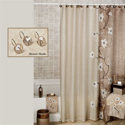 Pictures Of Bathrooms With Shower Curtains Magnolia Floral Shower Curtain By Croscill