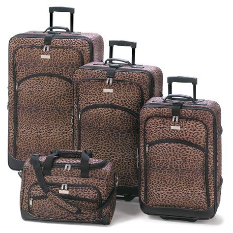 wholesale leopard print luggage ensemble buy wholesale
