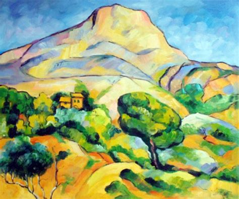 Landscape Artists Work Paul Cezanne Mont St Victoire Painting My Favourite