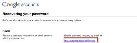 reset gmail via email how to add external email account for password recovery in