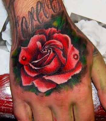 red handed tattoo on