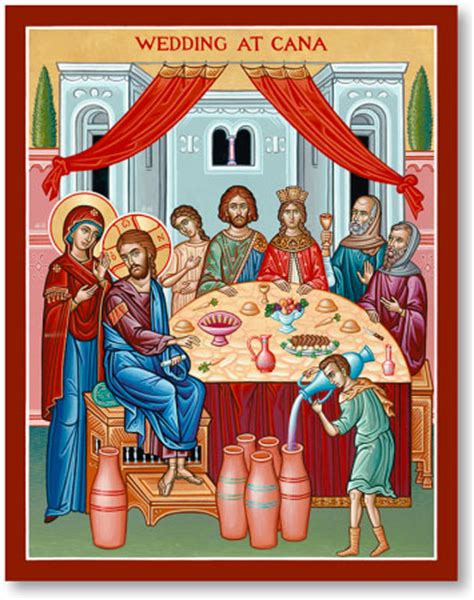 Wedding At Cana Orthodox Icon by Great Feast Icons Wedding At Cana Icon Monastery Icons