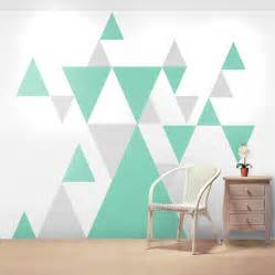 Geometric Wall Stickers geometric pattern giant wall sticker set by oakdene