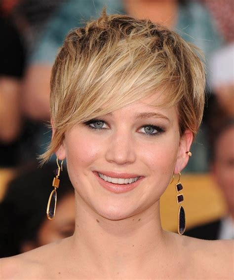 2014 short hairstyles for round faces jennifer lawrence short hair jennifer lawrence beauty looks best hairstyle ideas cinefog