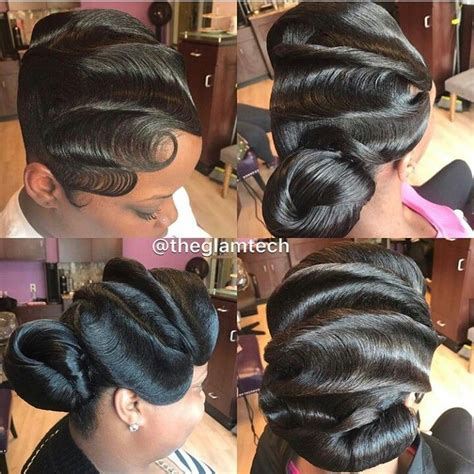 fingerwaves freeze updo for an black american female f05310b4e19677eaf134843c06268904 jpg 720 215 721 hair