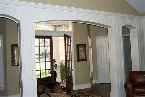 interior home columns square interior columns with arches for the home
