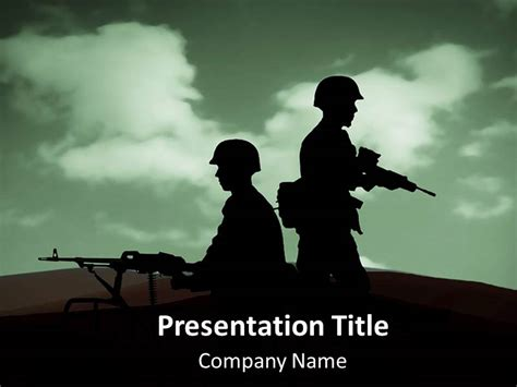 Army War Powerpoint Templates Army War Ppt Backgrounds Slides War Powerpoint Template