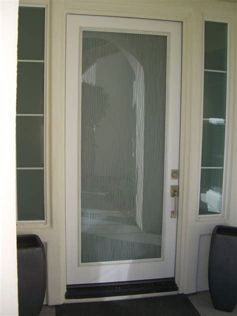 water trails modern decor interior etched glass doors
