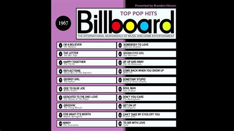 dance music charts 2007 billboard top pop hits 1967 youtube