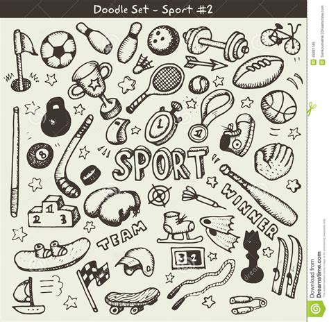 doodle sports free vector doodle sports stock vector image 45881185