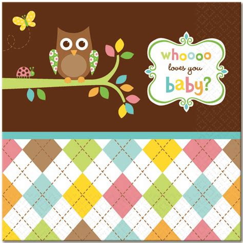owl baby shower plates and napkins happi tree owl special events supply store in ak