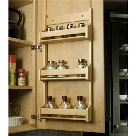 Door Mounted Spice Rack Hafele Wooden Door Mount Kitchen Spice Racks
