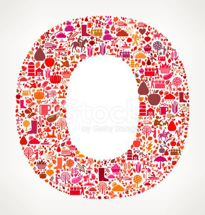 o patterns letter o on autumn seasonal royalty free vector