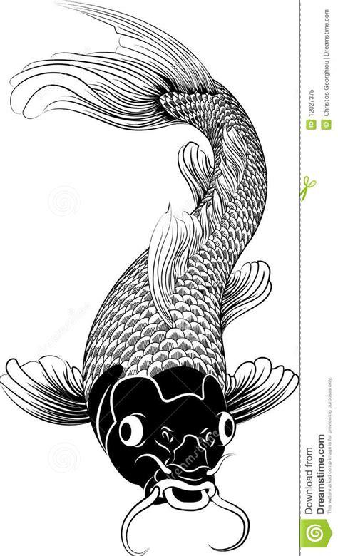 Ilustração Dos Peixes Da Carpa Do Koi De Kohaku Ilustração