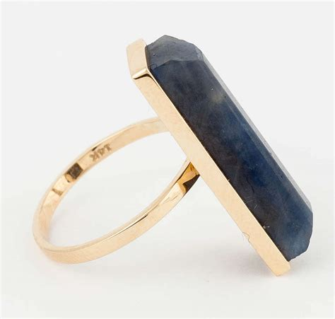 Black Sapphire Golden 19 7ct neverending saphire and saphire pave asymmetrical ring at
