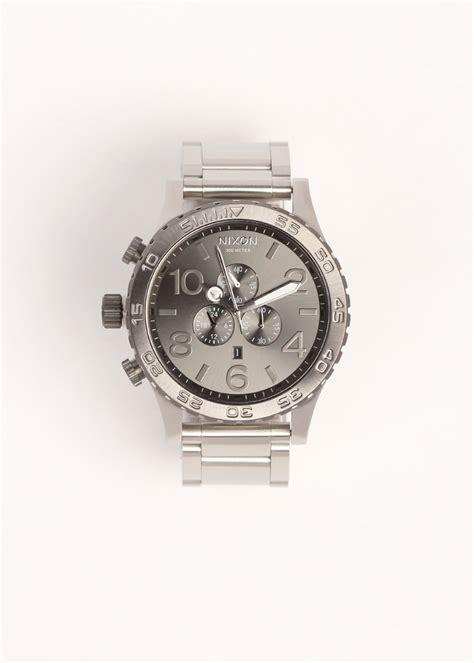 Silver Chrono Aktif 1 nixon 51 30 chrono silver gunmetal