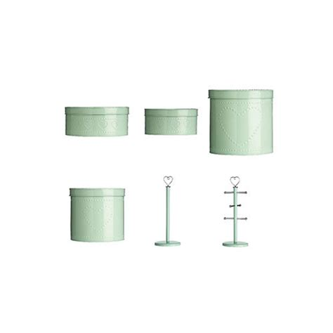 mint green kitchen storage