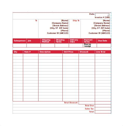 product sales template sle sales order 6 exle format