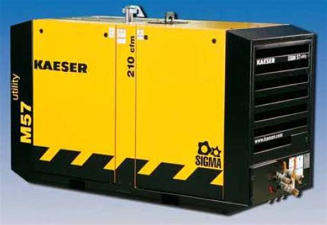 utility kaeser portable air compressor  cfm