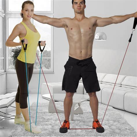 Tali Pilates Fitness 11 Set 11pcs set resistance belt pilates tubing expanders exercise practical strength