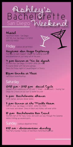 I Created This Custom Bachelorette Party Itinerary For A Destination Party In Chicago Bachelorette Itinerary Template Free