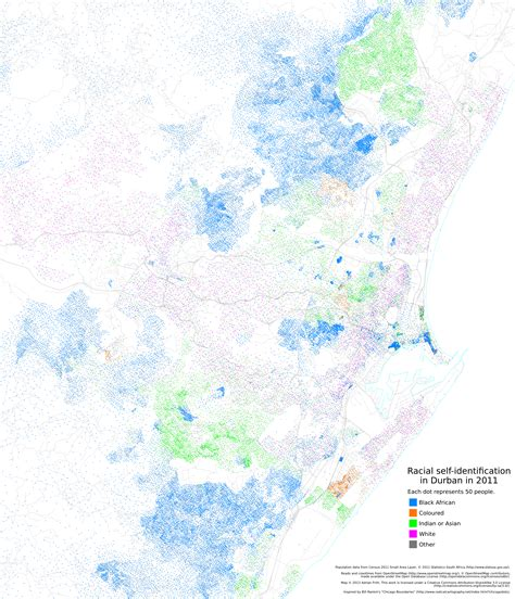 south america dot map dot maps of racial distribution in south cities