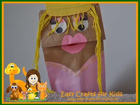 paper bag princess puppet pattern paper bag craft ideas