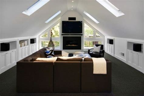 creative raisins man room built in tv unit creative ways of using the attic space