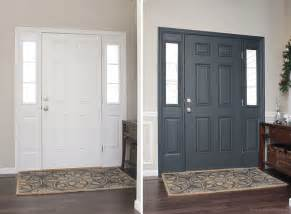 how to paint the front door painted interior front door giveaway how to nest for less
