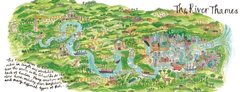 river thames map from source to sea they draw travel