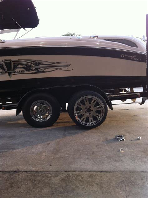 new rims and tires for the boat trailer planetnautique - Size Of Boat Trailer Wheels