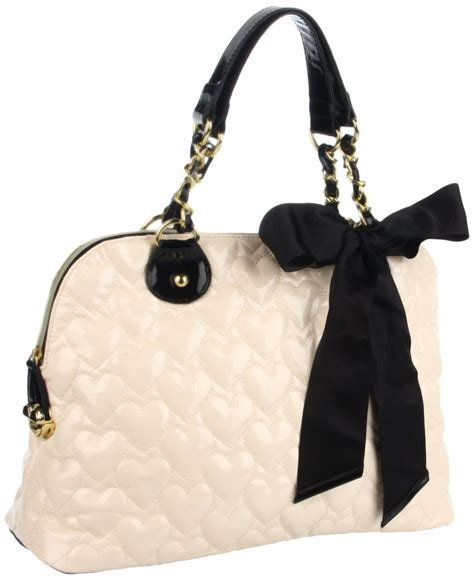 Betsey Johnson Handbag Quilted Satchel by Betsey Johnson Mine Yours Quilted Dome