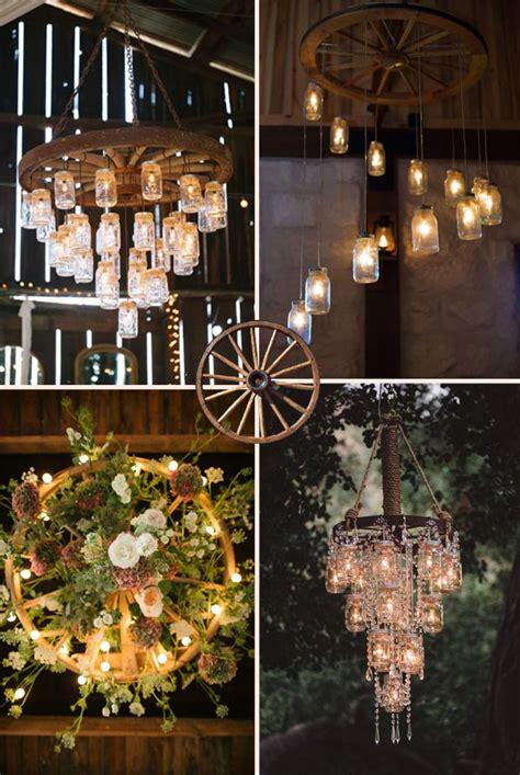 wagon wheel chandelier diy creative rustic wagon wheel wedding decoration ideas