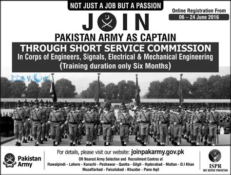 Online Engineering Jobs Work From Home - pakistan army short service commission 2016 signals