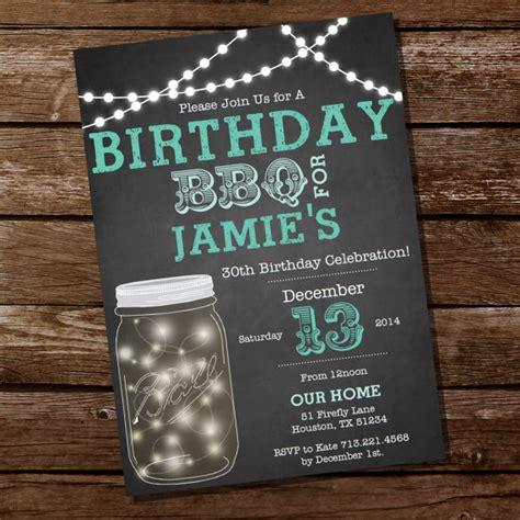 themes editor jar mason jar chalkboard bbq birthday invitation mason jar