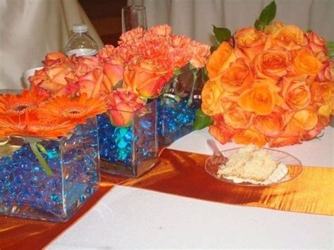 blue and orange wedding theme blue orange theme wedding