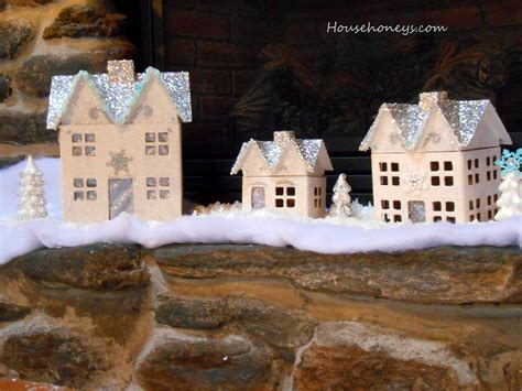 christmas village houses glitter christmas village househoneys com
