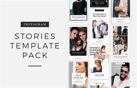 Free Instagram Stories Template Pack Medialoot Create Insta Story Templates