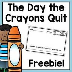 libro the day the crayons the day the crayons quit daily five crayons literacy and maths