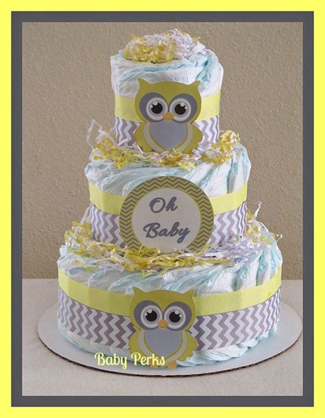 Yellow And Grey Owl Baby Shower by Yellow And Grey Owl Cake Baby Shower Decorations