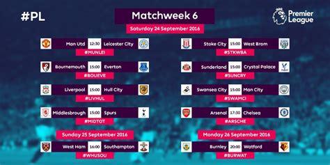 epl jadwal hari ini berita bola hari ini jadwal pertandingan premier league