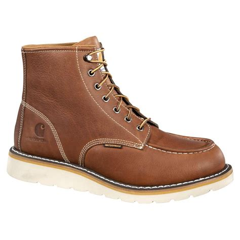 wedge sole work boots carhartt 6 inch moc toe wedge sole wp work boot