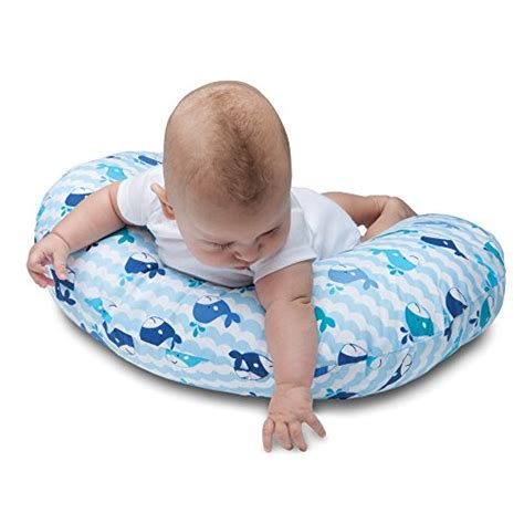 Nursing Pillow Babyblue by Boppy Nursing Pillow And Positioner Whale Blue 0 12