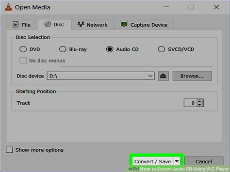 format extraction cd how to extract audio cd using vlc player with pictures