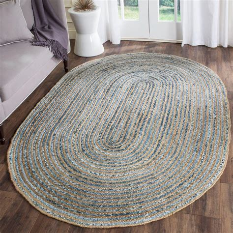 how to cape a for a rug nuloom rigo jute 4 ft x 6 ft oval area rug tajt03 406o the home depot
