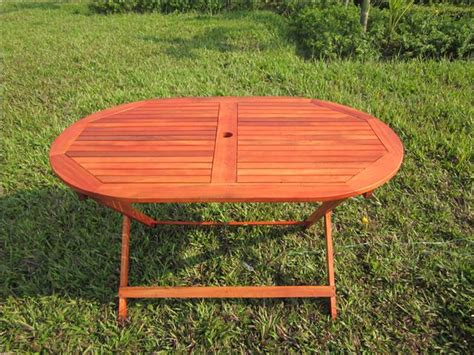 Folding Wooden Garden Table Hardwood Wooden Folding Oval Rectangular Garden Table Wood Chairs Furniture Ebay