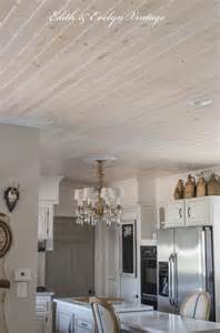 Ceiling decorating ideas planked ceiling with white pickling finish